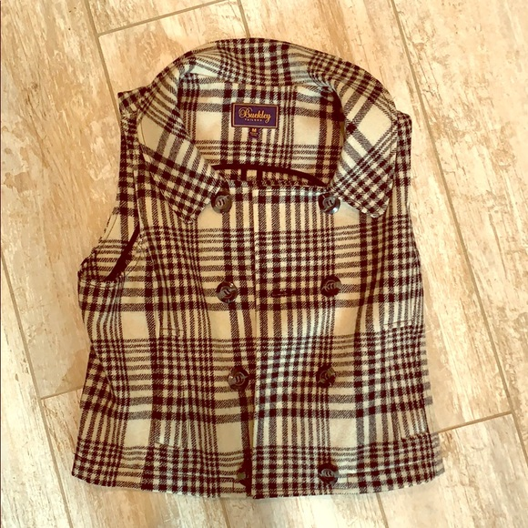 Madewell Houndstooth Wool Vest Size M